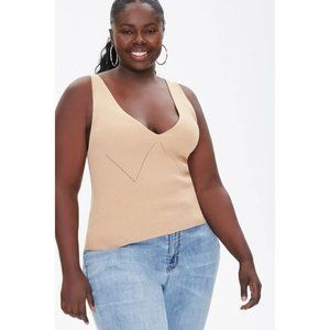 Forever 21 Plus Size Knit Pointelle Tank Top